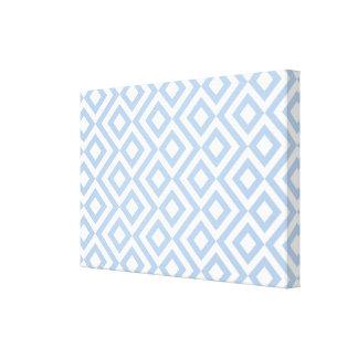 Meandro azul claro y blanco impresión en lienzo estirada