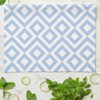 Meandro azul claro y blanco toalla de mano