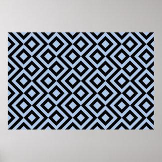 Meandro azul claro y negro
