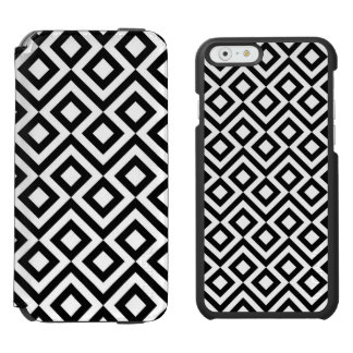 Meandro blanco y negro funda billetera para iPhone 6 watson