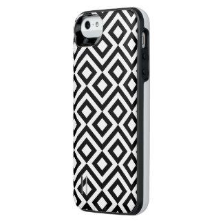 Meandro blanco y negro funda con bateía para iPhone SE/5/5s