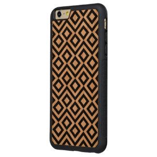Meandro blanco y negro funda para iPhone 6 plus de carved® de cerezo