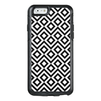 Meandro blanco y negro geométrico, diamante, funda otterbox para iPhone 6/6s