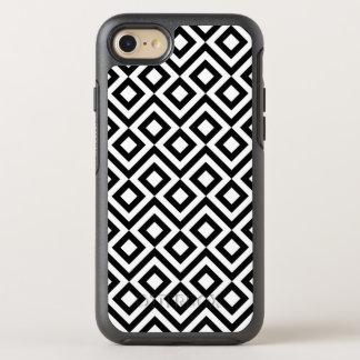 Meandro blanco y negro geométrico, diamante, funda OtterBox symmetry para iPhone 7