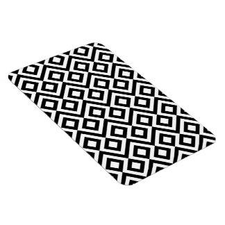 Meandro blanco y negro imanes rectangulares