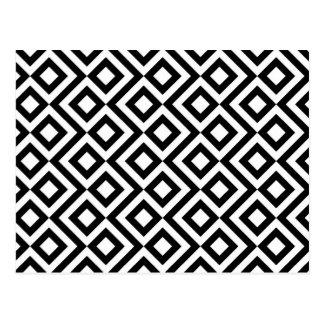 Meandro blanco y negro postal