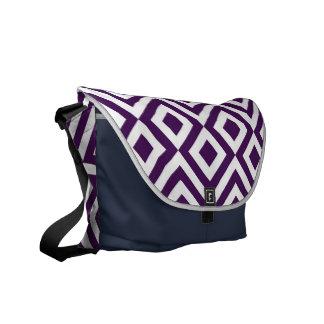 Meandro de la púrpura y del blanco bolsas de mensajeria