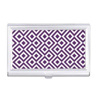 Meandro de la púrpura y del blanco caja de tarjetas de negocios