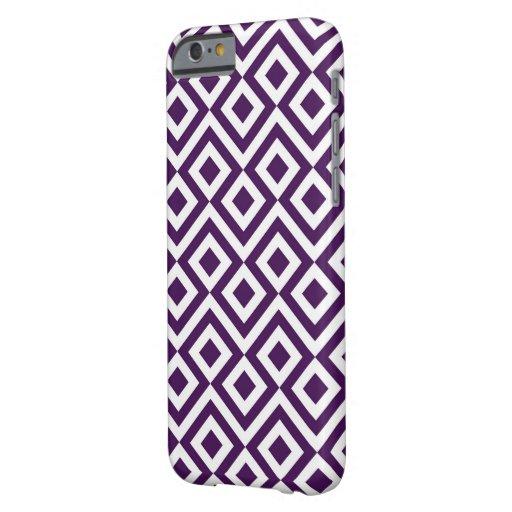 Meandro de la púrpura y del blanco funda de iPhone 6 barely there