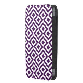 Meandro de la púrpura y del blanco funda acolchada para iPhone