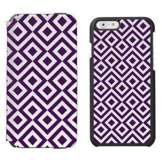 Meandro de la púrpura y del blanco funda billetera para iPhone 6 watson