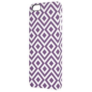 Meandro de la púrpura y del blanco funda clearly™ deflector para iPhone 6 plus de unc
