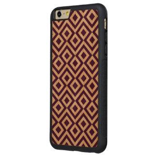 Meandro de la púrpura y del blanco funda de cerezo bumper carved® para iPhone 6 plus