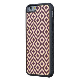 Meandro de la púrpura y del blanco funda de iPhone 6 bumper arce