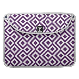 Meandro de la púrpura y del blanco funda para macbooks