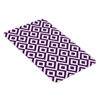 Meandro de la púrpura y del blanco iman
