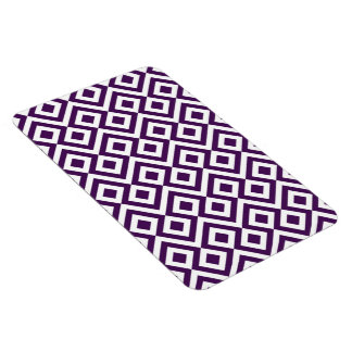 Meandro de la púrpura y del blanco imán de vinilo