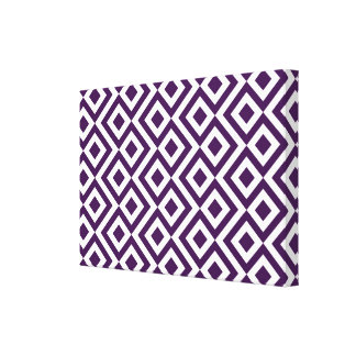 Meandro de la púrpura y del blanco impresión de lienzo