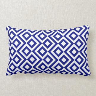 Meandro del azul y del blanco almohada