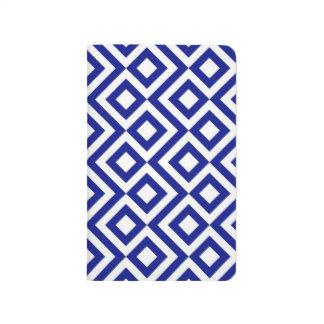 Meandro del azul y del blanco cuaderno grapado