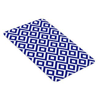 Meandro del azul y del blanco imán de vinilo