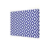 Meandro del azul y del blanco impresiones en lienzo estiradas