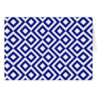 Meandro del azul y del blanco tarjeta
