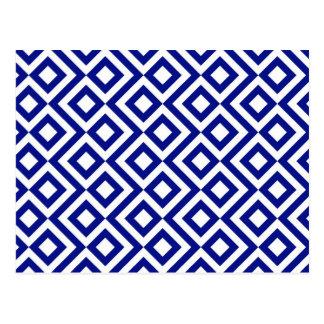Meandro del azul y del blanco tarjetas postales