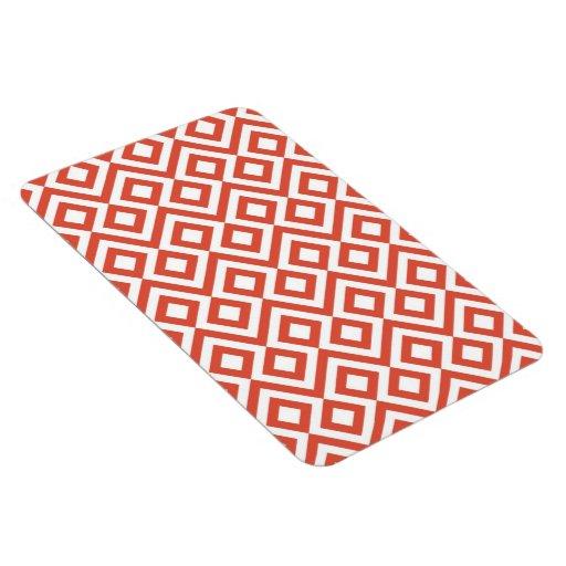 Meandro del naranja y del blanco imán rectangular