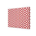 Meandro del rojo y del blanco impresión en lienzo estirada