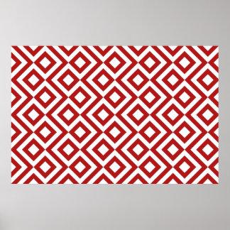 Meandro del rojo y del blanco póster