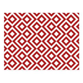 Meandro del rojo y del blanco tarjetas postales