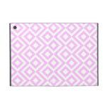 Meandro del rosa y del blanco iPad mini cárcasas