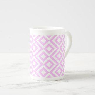Meandro del rosa y del blanco taza de porcelana
