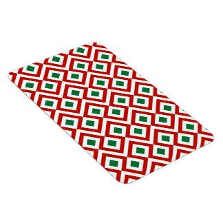 Meandro rojo, blanco, verde iman
