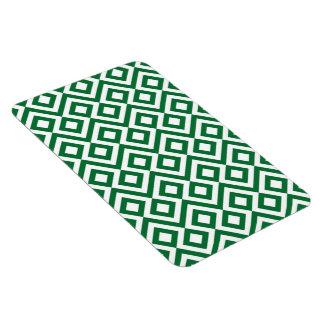 Meandro verde y blanco imán de vinilo