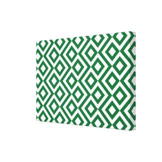 Meandro verde y blanco impresión en lona