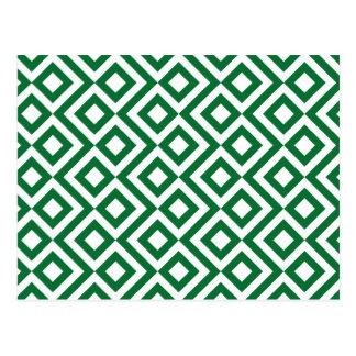 Meandro verde y blanco postales