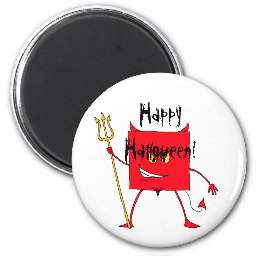 ¡meanie del diablo, feliz Halloween! imán
