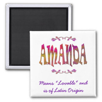 Meaning of Amanda Magnet
