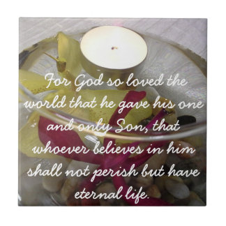 Meaning of Christmas John 3 16 Orchid Gift Tile