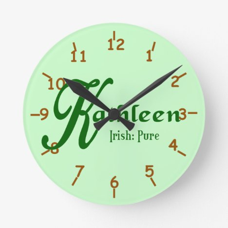 Meaning of Kathleen Round Clock