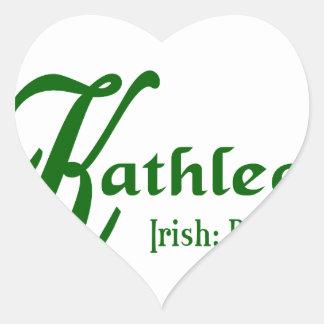 Meaning of Kathleen Heart Sticker