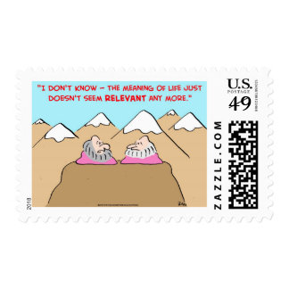 MEANING OF LIFE DOESN'T SEEM RELEVANT - GURUS POSTAGE