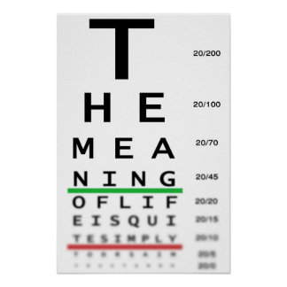 Meaning Of Life Eye Chart