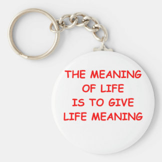 meaning of life keychain