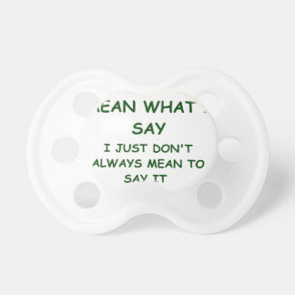 MEANING PACIFIER