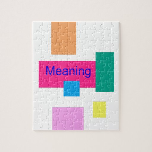 Meaning Jigsaw Puzzles