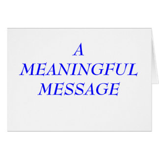 MEANINGFUL MESSAGE:  INCARCERATION 5 STATIONERY NOTE CARD