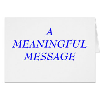 MEANINGFUL MESSAGE:  INCARCERATION 5A STATIONERY NOTE CARD